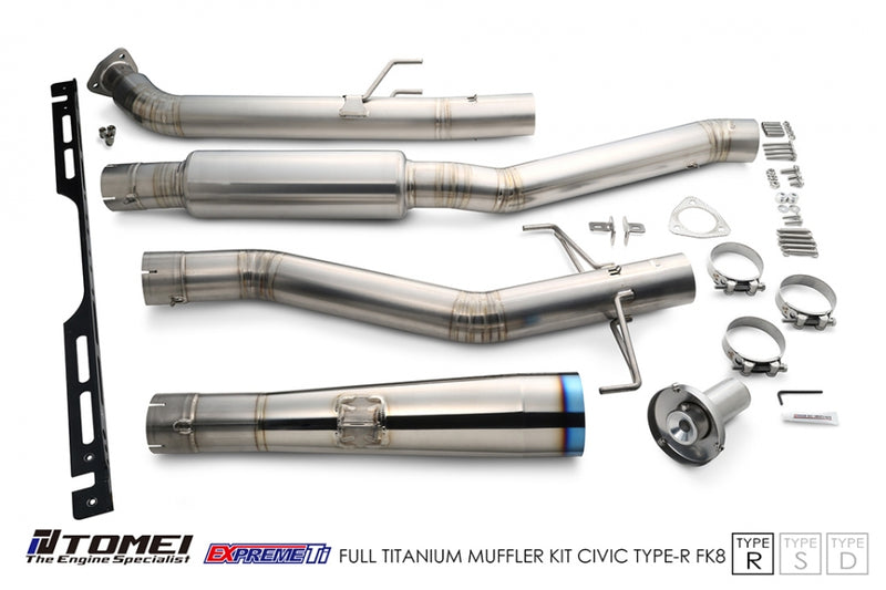 Tomei Expreme Ti Full Titanium Cat-Back Exhaust (Type R) - 2017+ Honda Civic Type R (FK8)