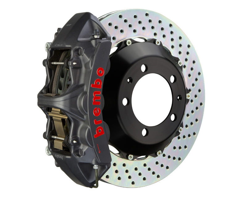 Brembo 380x32 2-Piece GT-S Big Brake Kit (Front | Drilled | Anodized) - 2017+ Honda Civic Type R (FK8)