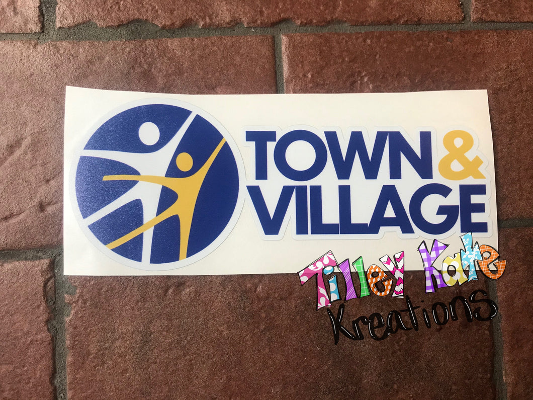 Car Decal Town and Village