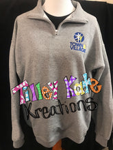 Load image into Gallery viewer, Quarter Zip Sweatshirt with Embroidered Logo