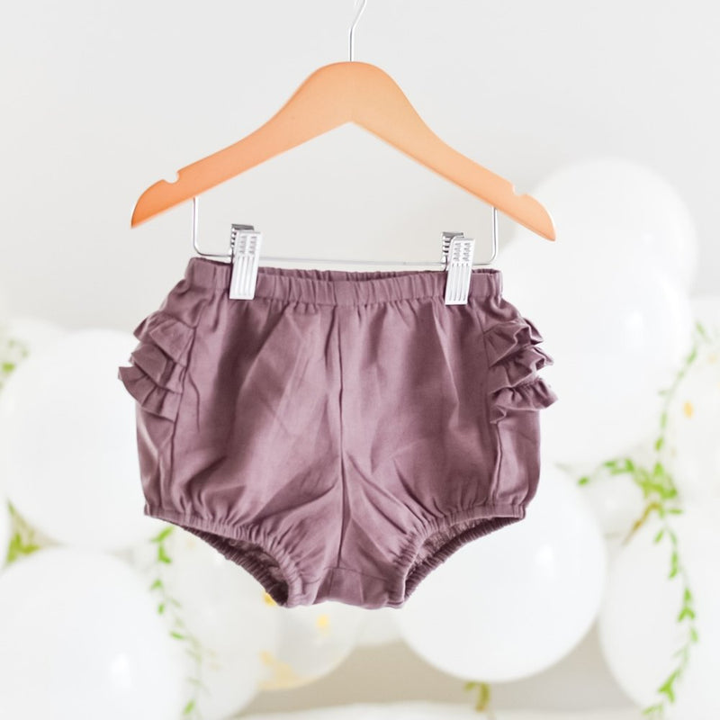 Bailey Ruffle Bum Bloomers-Plum