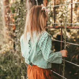 Greta Gingham Top