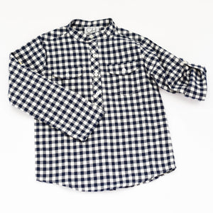 James Top - Navy Large Gingham