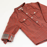 Red & Grey Gingham Top