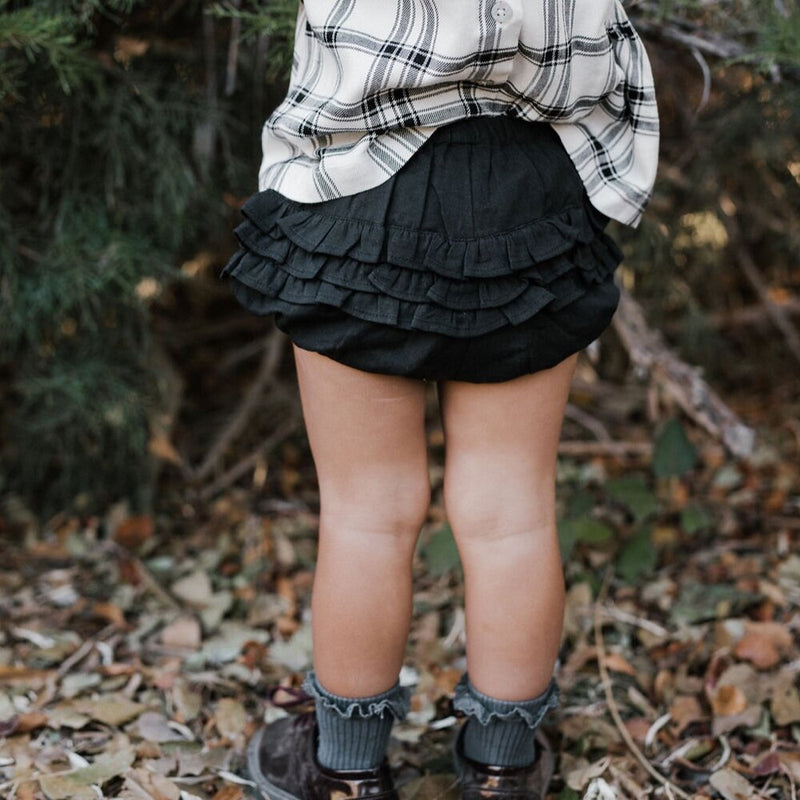 Midnight Ruffle Bum Bloomers