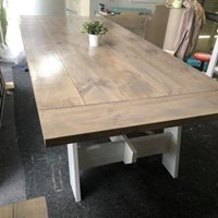 2.6 m Rectangular Farmhouse Dining Table