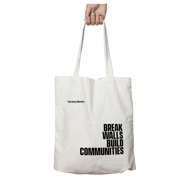 Break Walls, Build Communities Tote Bag