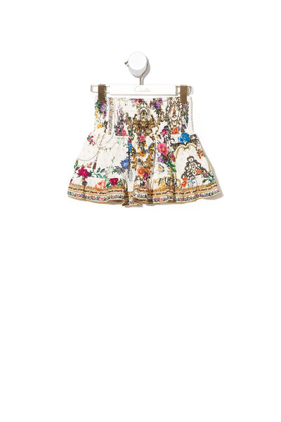 KIDS SHIRRING WAIST SKIRT 4-10 BY THE MEADOW