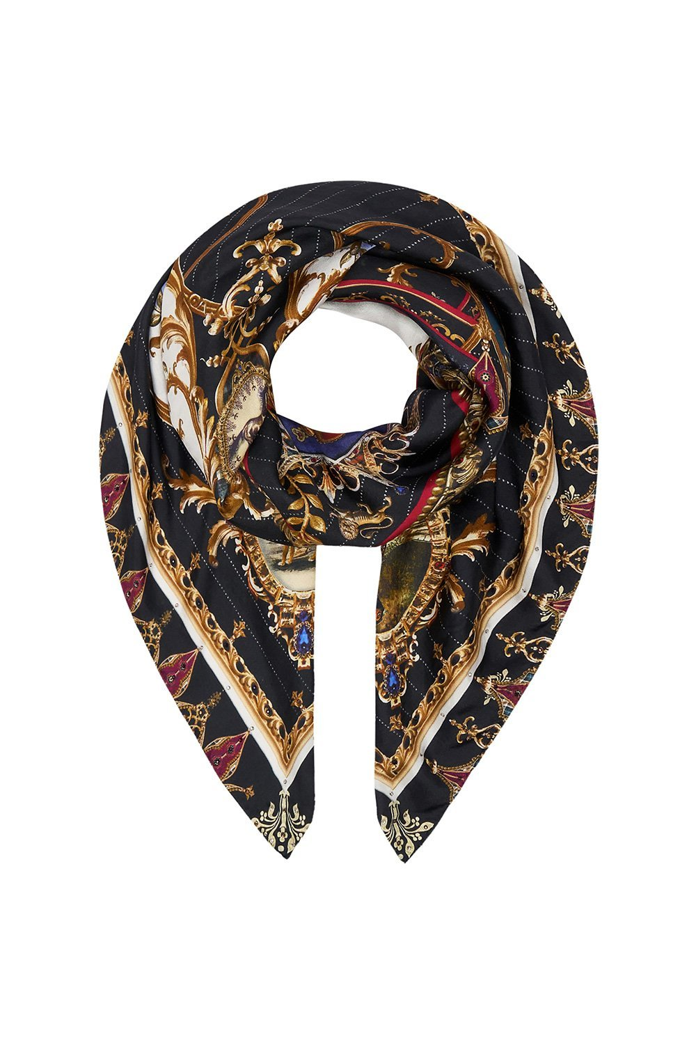 LARGE SQUARE SCARF DINING HALL DARLING