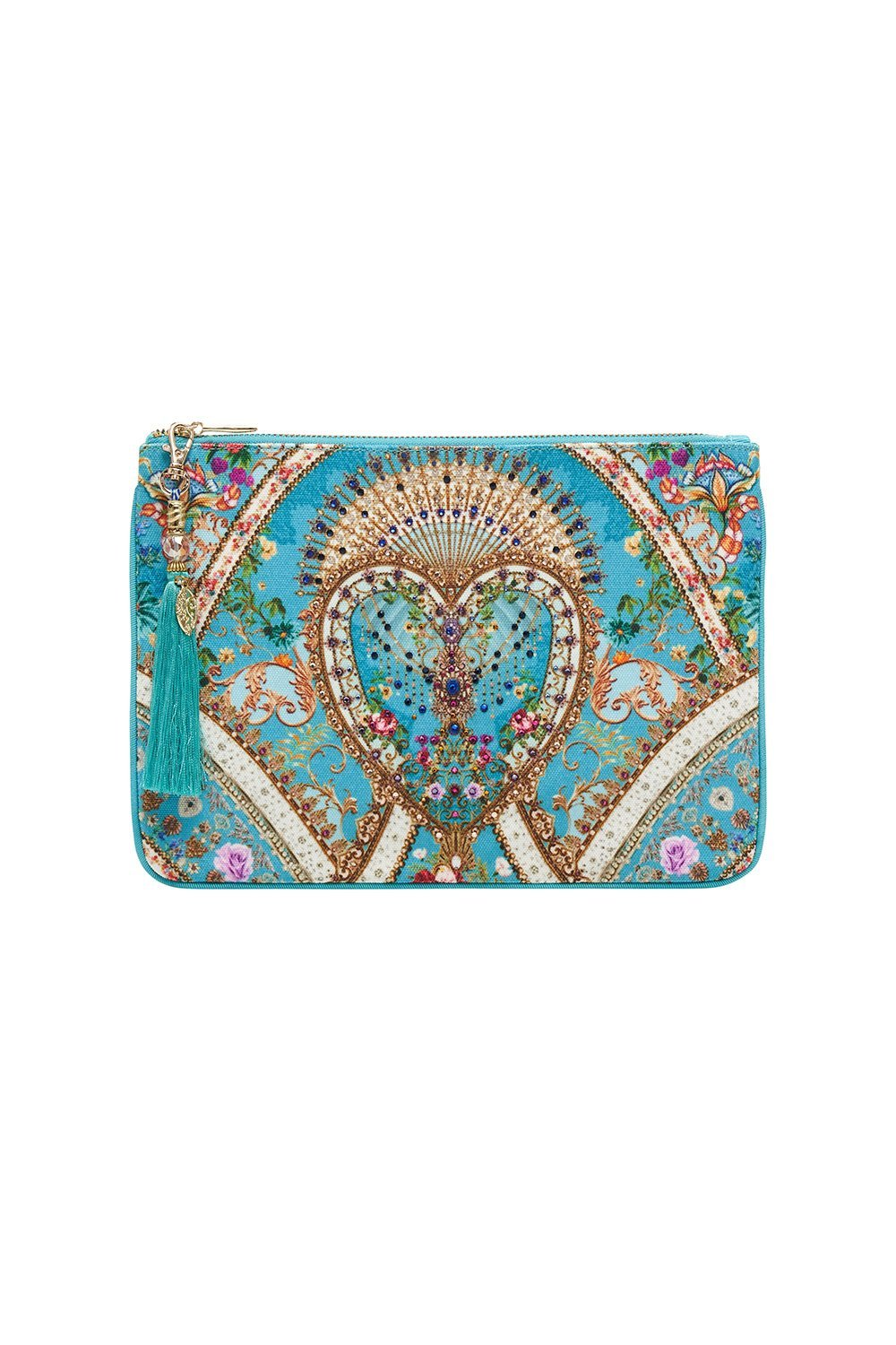 SMALL CANVAS CLUTCH A SONNET FOR SATINE