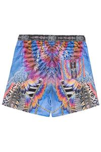 ELASTIC WAIST BOARDSHORT LOVE ON THE WING
