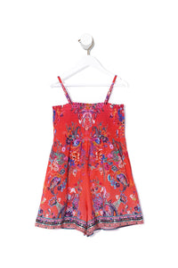 INFANTS PLAYSUIT WITH SHIRRING FREE LOVE