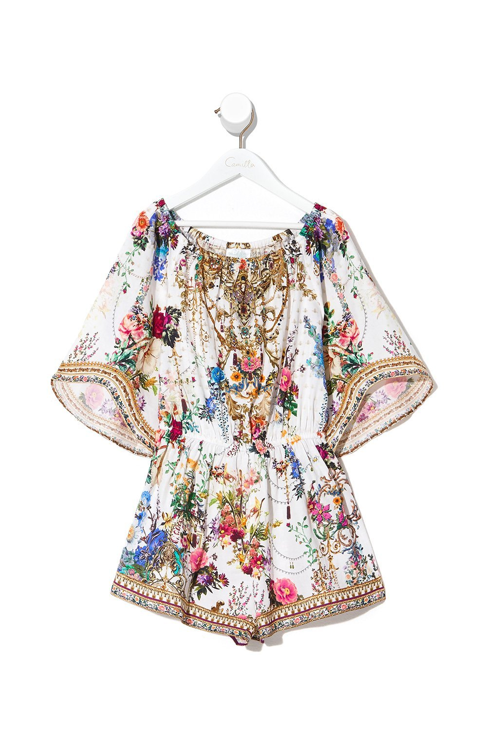 KIDS 3/4 FLARE SLEEVE PLAYSUIT 4-10 BY THE MEADOW