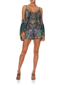 DROP SHOULDER PLAYSUIT ANIMAL ARMY