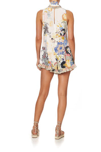 RUFFLE HEM PLAYSUIT BRITAIN BOUQUET