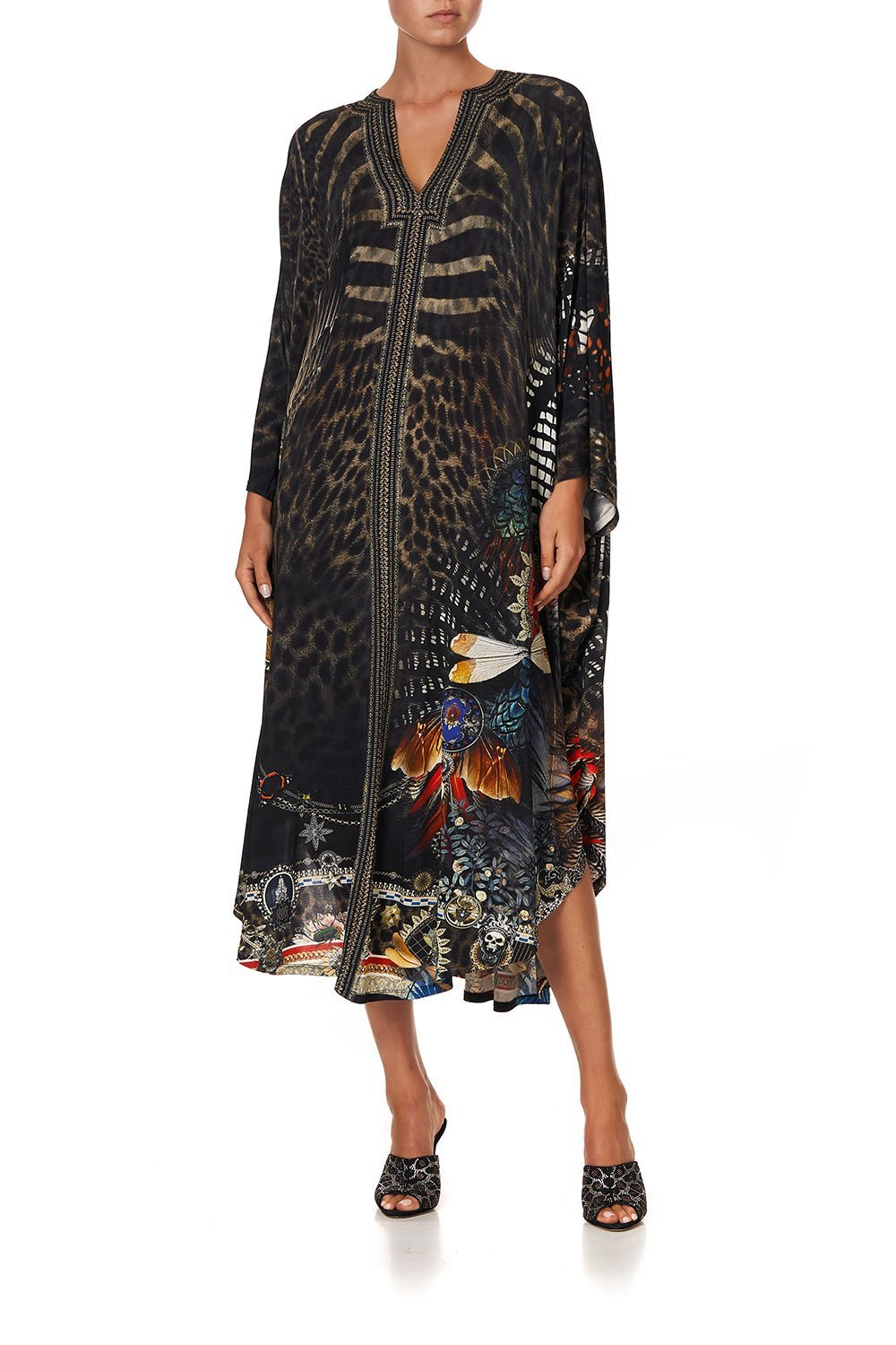 JERSEY LONG KAFTAN WITH ROUNDED HEM TREASURE CHASER