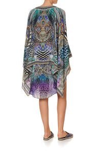 SHEER LAYERED DRESS WITH SPLIT ANIMAL ARMY