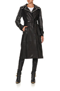 LEATHER TRENCH COAT LEATHER