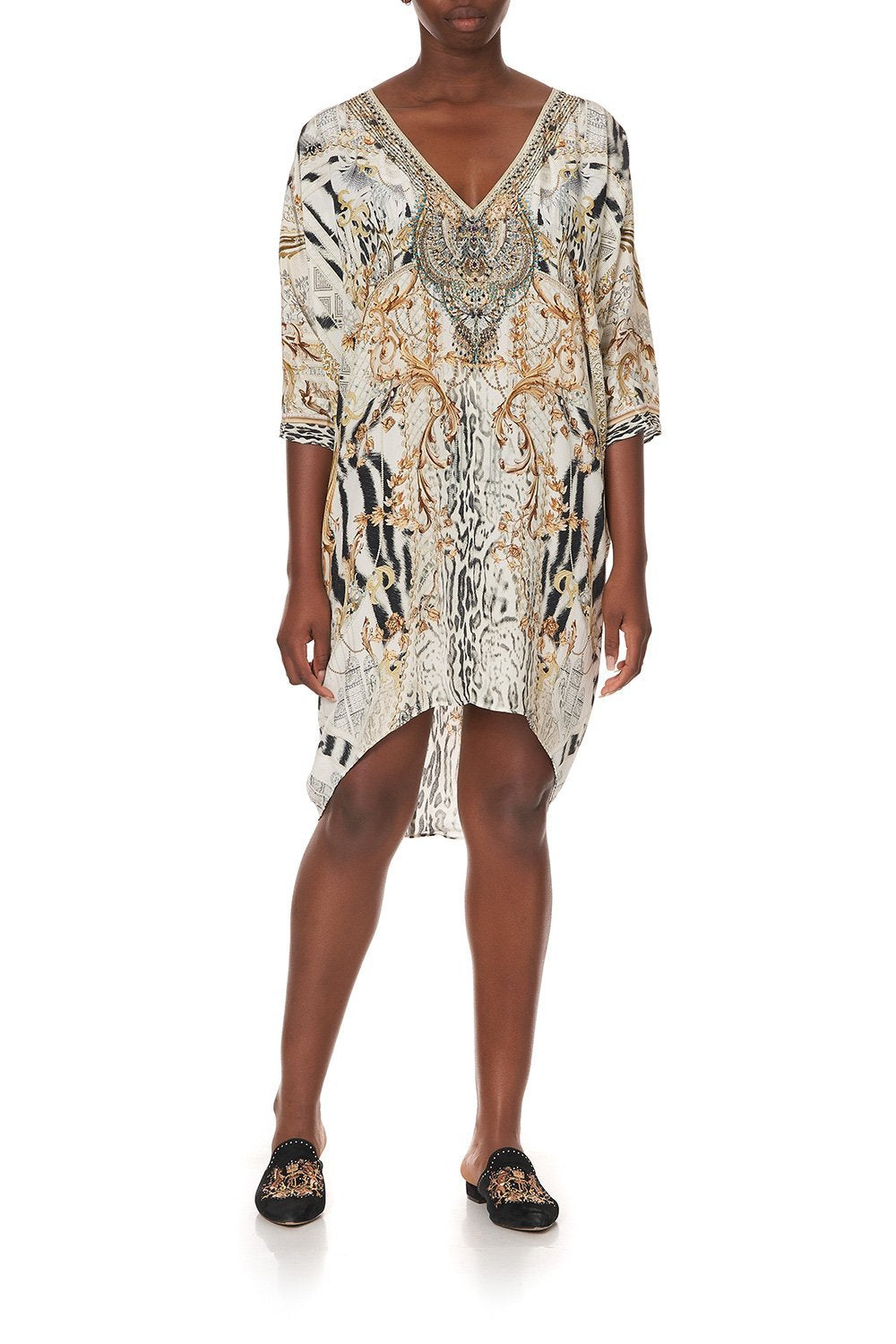SHORT KAFTAN WITH RAGLAN SLEEVE GATES OF GLORY