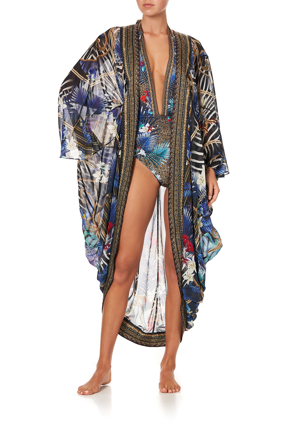 LONGE SLEEVE LONG CAPE RAINBOW ROOM