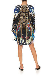 JERSEY SHORT KAFTAN WITH CURVED HEM RAINBOW ROOM