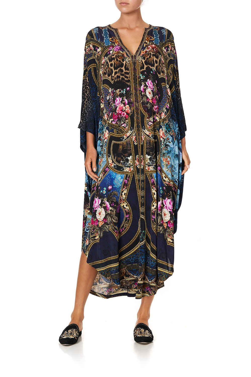 JERSEY LONG KAFTAN WITH ROUNDED HEM FIELDS OF TREASURE