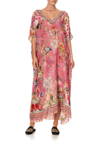 V-NECK KAFTAN PATCHWORK HEART
