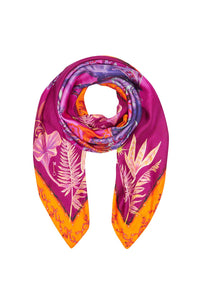 LARGE SQUARE SCARF TROPIC OF NEON