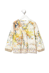 KIDS BLOUSE WITH PINTUCKING IN THE HILLS OF TUSCANY