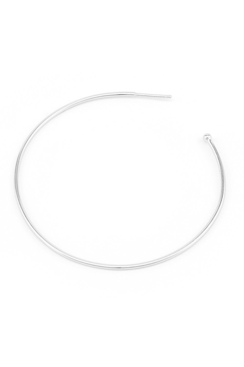 BY CHARLOTTE HOOP EARINGS SILVER PLATED