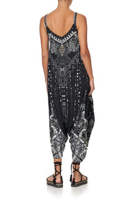 DROP CROTCH THIN STRAP JUMPSUIT MIDNIGHT PEARL