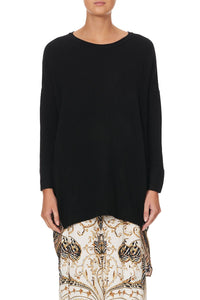 LONG SLEEVE JUMPER WITH PRINT BACK STUDIO 54