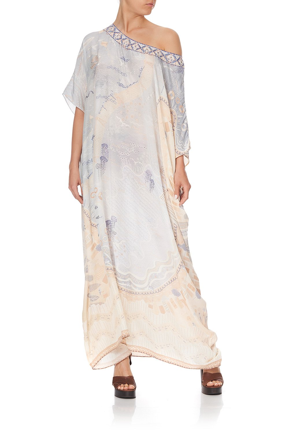 ROUND NECK KAFTAN DAWNING HOME LIGHT