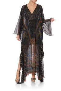 SHEER KAFTAN WITH TIE AND SLIP GATEWAY TO GIZA