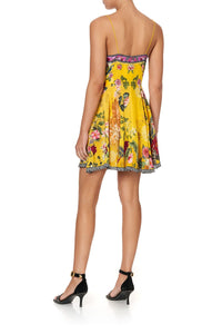 SHORT DRESS WITH TIE FRONT SAFFRON MOON