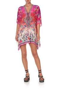 SHORT LACE UP KAFTAN FREE LOVE