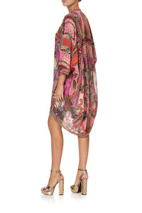 V-NECK DRESS WITH DRAPED BACK LOTUS LOVERS