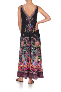 V NECK FLARED JUMPSUIT BOHEMIAN REBELLION