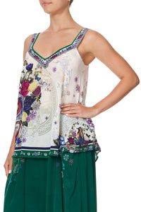V-NECK STRAP TOP GENTLE MOON