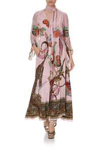 WRAP DRESS WITH NECK TIE ZIBA ZIBA