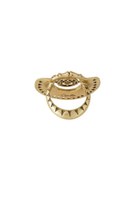 GOLD BRASS CUT OUT SPIN RING