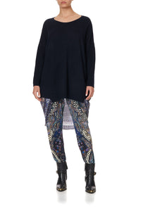 LONG SLEEVE JUMPER WITH PRINT BACK FESTIVAL EXPRESS