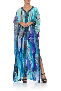 LONG LACE UP KAFTAN WITH EYELETS WATEGOS WANDERLUST