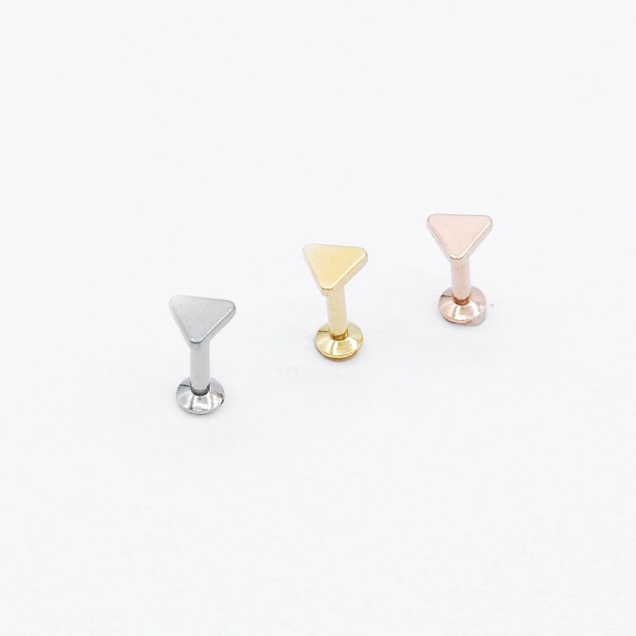 ARTIQO 'Geometric Triangle' Piercingstecker - helloartiqo.com