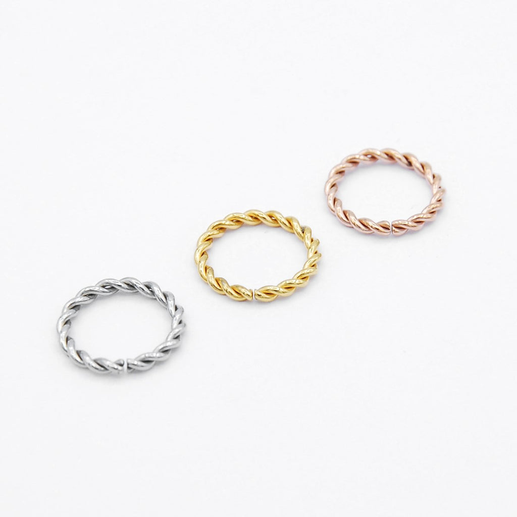 ARTIQO 'Twisted Ring' Piercingring - helloartiqo.com