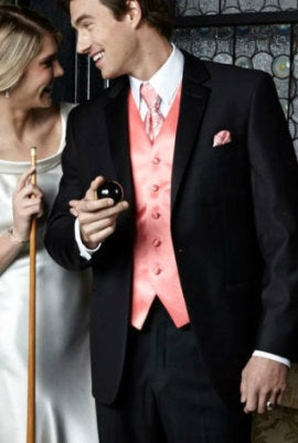 1 Button Black Tuxedo Rental Package $129.99 - $199.99