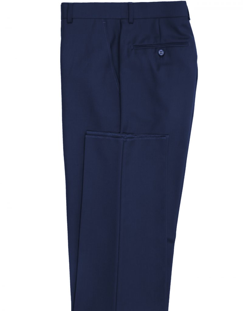 French Blue Slim Fit Suit Pant
