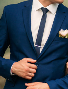 French Blue Slim Fit 2 Pc Suit