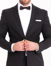 Load image into Gallery viewer, Black Slim Fit 2 Pc Suit