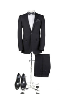 BUILD YOUR PROM PACKAGE: Black Slim Fit Suit